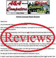 A&A Shifnal Computer Repair Reviews